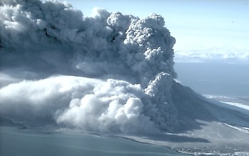 Eruption of Augustine Volcano, Alaska, in 1986