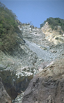 Source of landslide high on south side of Casita Volcano, Nicaragua