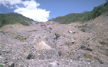 Scar of landslide on south side of Casita Volcano, Nicaragua