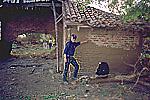 House left standing in El Porvenir by lahar from Casita Volcano, Nicaragua