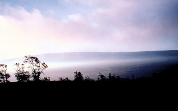 View of Mauna Loa Volcano toward the west from the Hawaiian Volcano Observatory