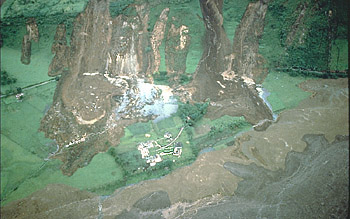 Town of Irlanda, Colombia, swept by lahar on June 6, 1994