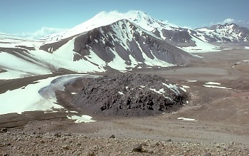 Lava dome atop the Novarupta vent, Valley of Ten Thousand Smokes, Alaska