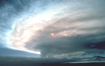 Eruption cloud from Kilauea Volcano, Hawai`i