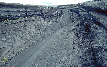 Inactive lava channel, Kilauea Volcano, Hawai`i