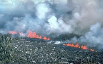 1983 eruptive fissure on Kilauea Volcano, Hawai`i