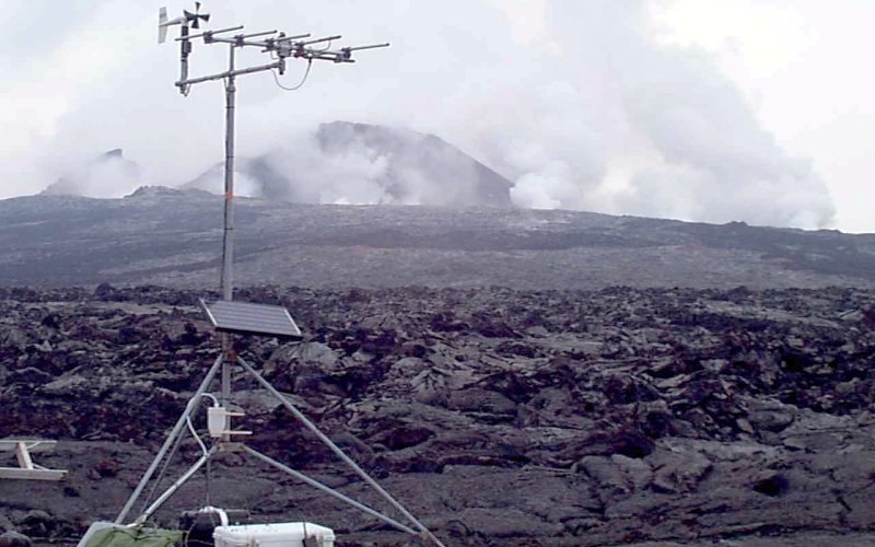 Measuring Volcanic Gases Continuous On Site Gas Monitoring