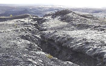 Eruptive fissure, Kilauea Volcano, Hawai`i