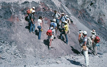 Landslide deposit at Mount St. Helens, Washington