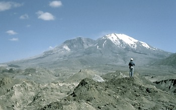 Hummocks of landslide deposit, Mount St. Helens, Washington