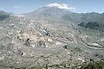 View of landslide hummmocks, Mount St. Helens, Washington