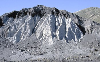 Hummock consisting of older dacite lavas erupted at Mount St. Helens, Washington