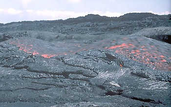 Standing wave in lava flow on Mauna Loa Volcano, Hawai`i