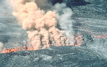 Drainback on Mauna Loa Volcano, Hawai`i