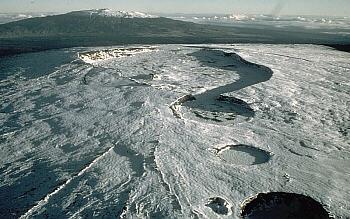 Caldera atop Mauna Loa Volcano, Hawai`i