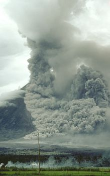 Pyroclastic flow rushes down side of Mayon Volcano, Philippines