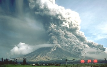 Pyroclastic flows move down Mayon Volcano, Philippines