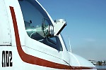 COSPEC mounted in airplane with periscope sticking through window