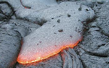 Close view of basalt lava, Kilauea Volcano, Hawai`i