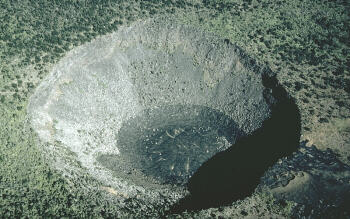 Photo: Hi`iaka pit crater on Kilauea Volcano, Hawai`i