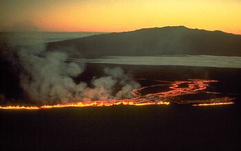 1975 fissure eruption on Mauna Loa Volcano, Hawai`i