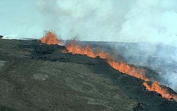 1984 fissure eruption on Mauna Loa Volcano, Hawai`i