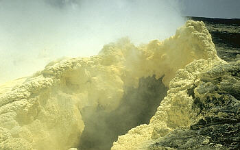 Close view of a fumarole, Kilauea Volcano, Hawai`i