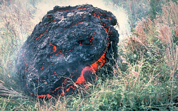 Accretionary lava ball