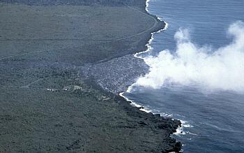 Lava delta at Kilauea Volcano, Hawai`i