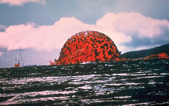 Dome lava fountain