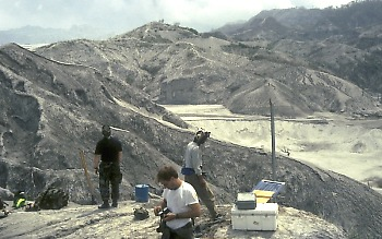 Installing a lahar detection system, Mount Pinatubo, Philippines