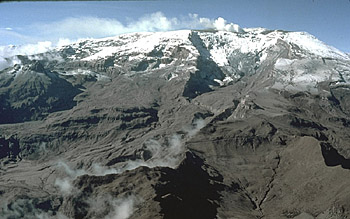 Headwaters of Azufardo River, Nevado del Ruiz, Colombia