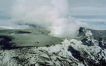 Summit craters of Nevado del Ruiz, Colombia