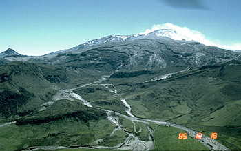 Headwaters of Guali River, Nevado del Ruiz, Colombia