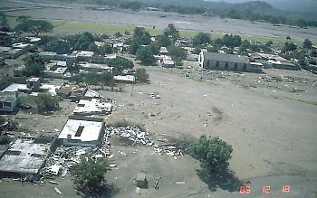 Armero, Colombia, destroyed by a lahar in 1985