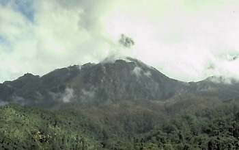 Photo of Santiaguito dome in Santa Maria Volcano, Guatamala