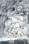 Eruption column at Mount St. Helens on May 18, 1980