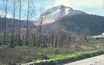 Nakao River Valley destoyed by pyroclastic flows