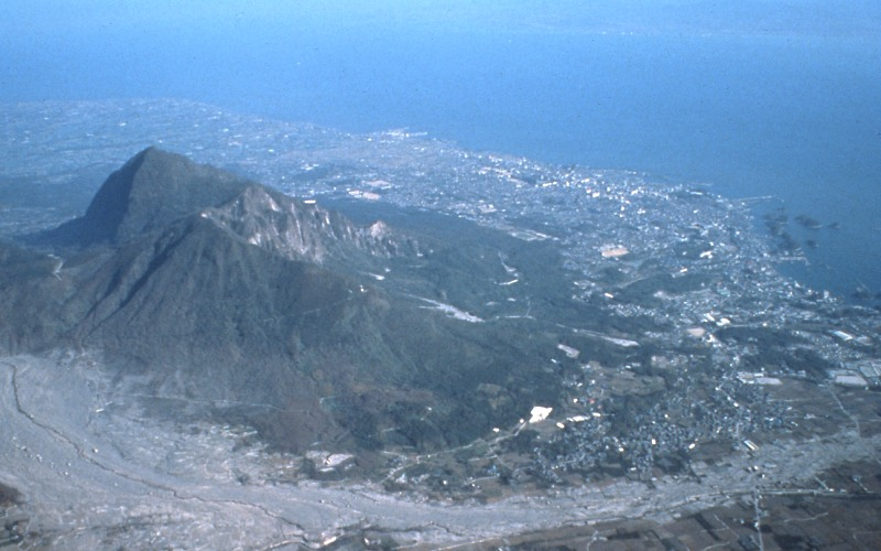 Volcano Landslide From Mt Mayuyama Japan Triggers Deadly Tsunami