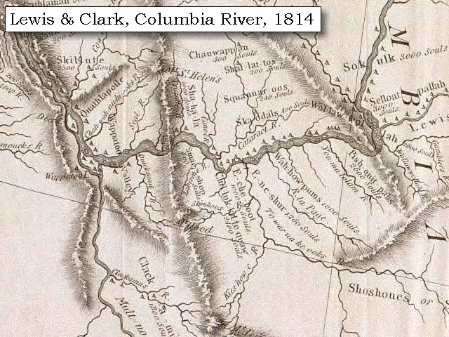 enlarge map 1814 lewis and clark on the columbia click to enlarge