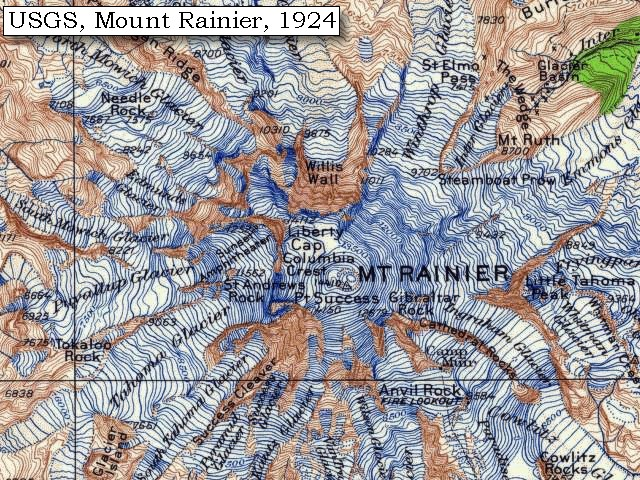 The Volcanoes Of Lewis And Clark Mount Rainier Summary - Topographical map us of 1804