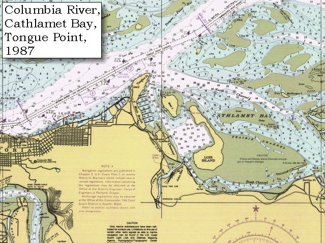 The volcanoes of lewis and clark november 26 30 1805 for Columbia river fishing map