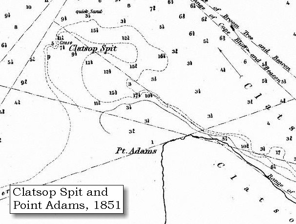 map 1851 point adams and clatsop spit click to enlarge
