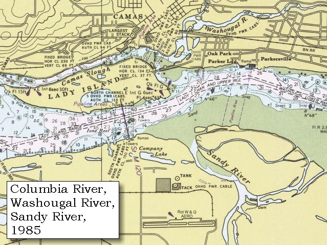 The volcanoes of lewis and clark april 1 1806 for Columbia river fishing map