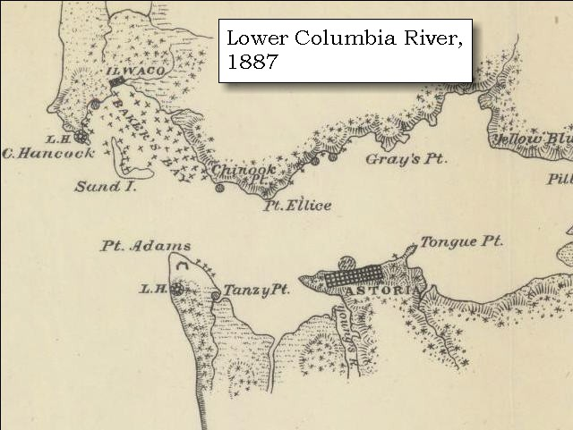 enlarge map 1887 mouth of the columbia river click to enlarge