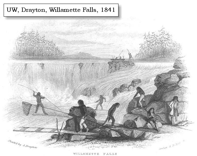 The volcanoes of lewis and clark april 3 1806 1841 willamette falls by j drayton click to enlarge publicscrutiny Image collections