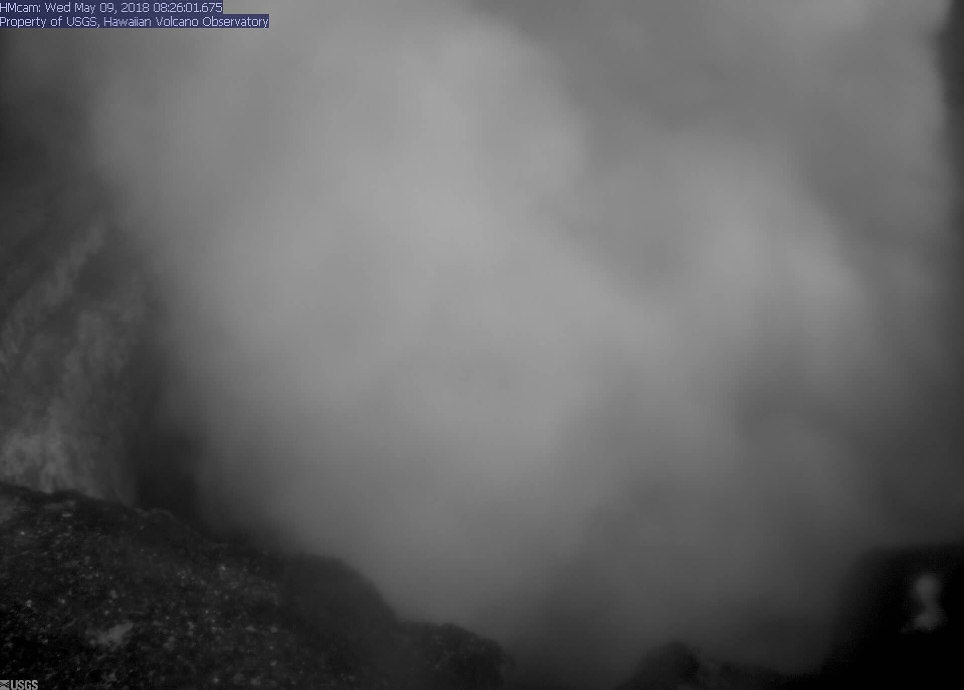 Webcam view into Halemaumau lava lake