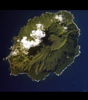 Agrigan Island image taken from NASA Space Shuttle.