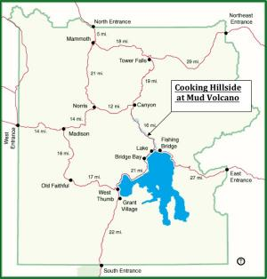 Usgs volcano hazards program yvo yellowstone map of the cooking hillside study site within yellowstone national park click image to gumiabroncs Image collections