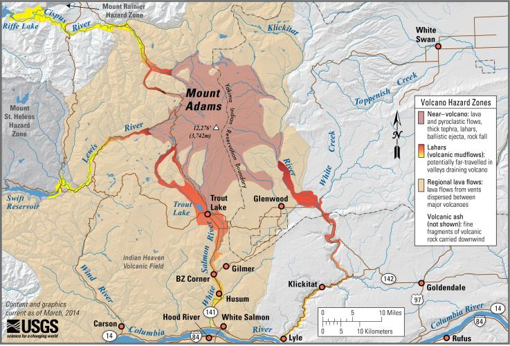 Cascades Volcano Observatory - Map of us volcanoes